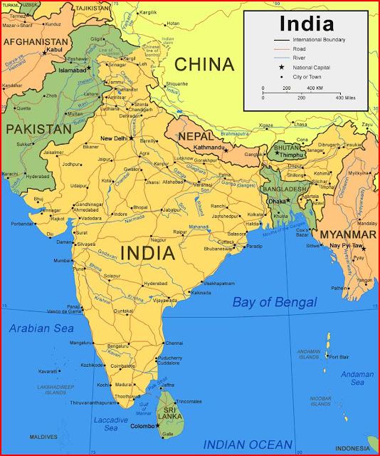 Gambar Peta India
