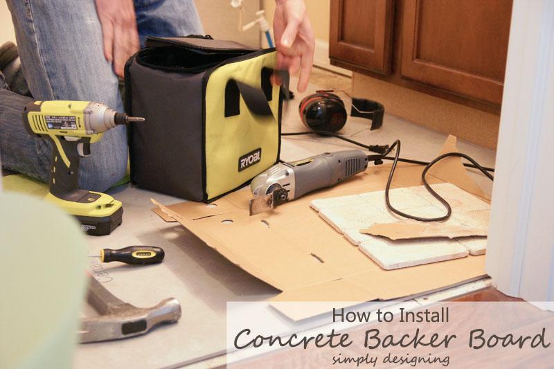 How to Install Concrete Backer Board {Tile Installation: Part 2} #diy #tile #bathroomremodel #thetileshop @thetileshop