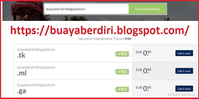 DOT TK  - Website Penyedia Domain Gratis / Free Domain