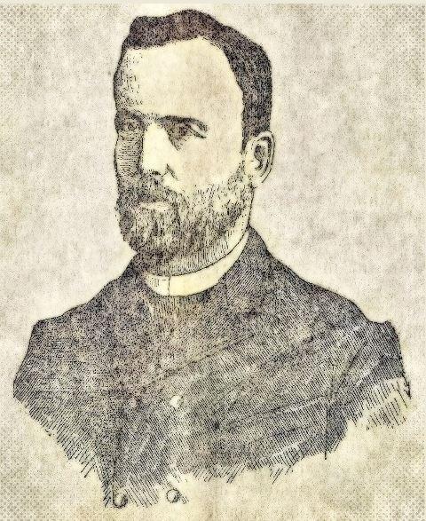 Ernesto Young jovem, em 1890.