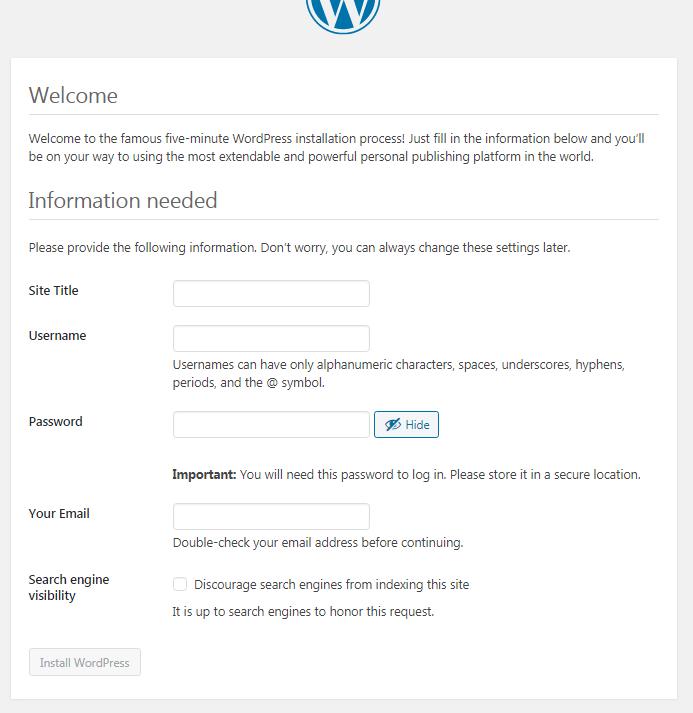 install wordpress di localhost dengan xampp