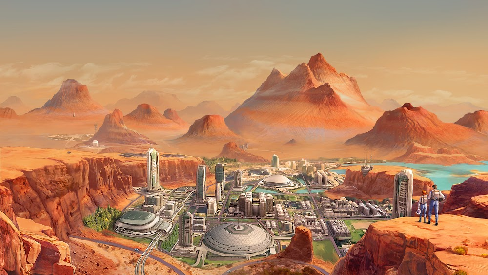Human colony on terraformed Mars by Tiago da Silva for Terraformers game
