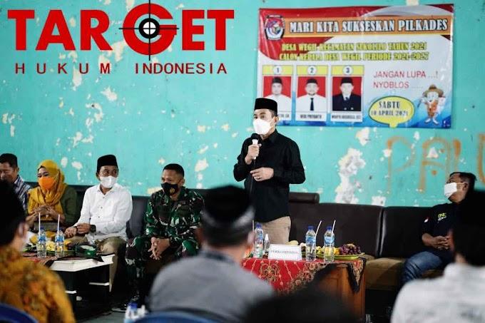 Monitoring Jelang Pilkades, Bupati Haryanto Sebut Persiapan Berjalan Lancar