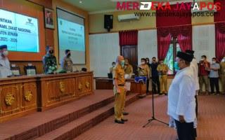 Dandim 0719/Jepara Hadiri Pelantikan Pengurus Baznas di Kantor Setda Jepara