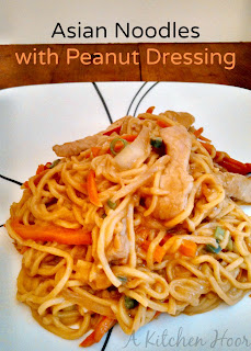 A Kitchen Hoors Adventures | Asian Noodles with Peanut Dressing a #WeeknightSupper