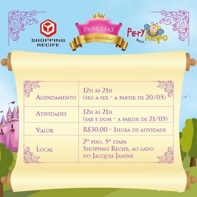 Princesas – Reino Encantado no Shopping Recife