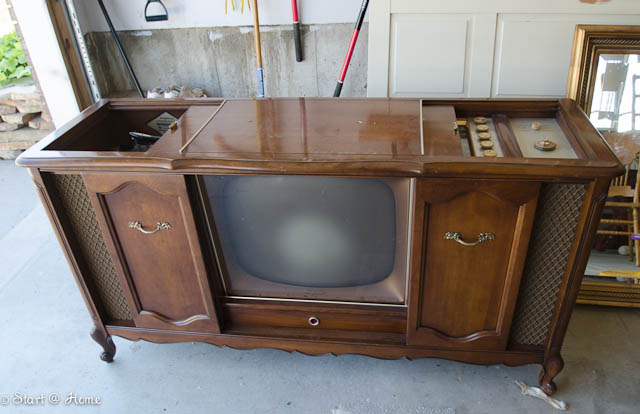 French Record Player Tv Cabinet
