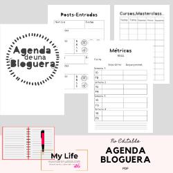agenda, escolar, bloguera, imprimible, pdf, boda