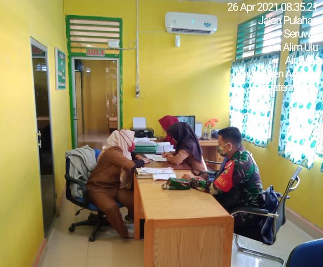 Update Data, Personel Jajaran Kodim 0208/Asahan Laksanakan Pul Data Ter