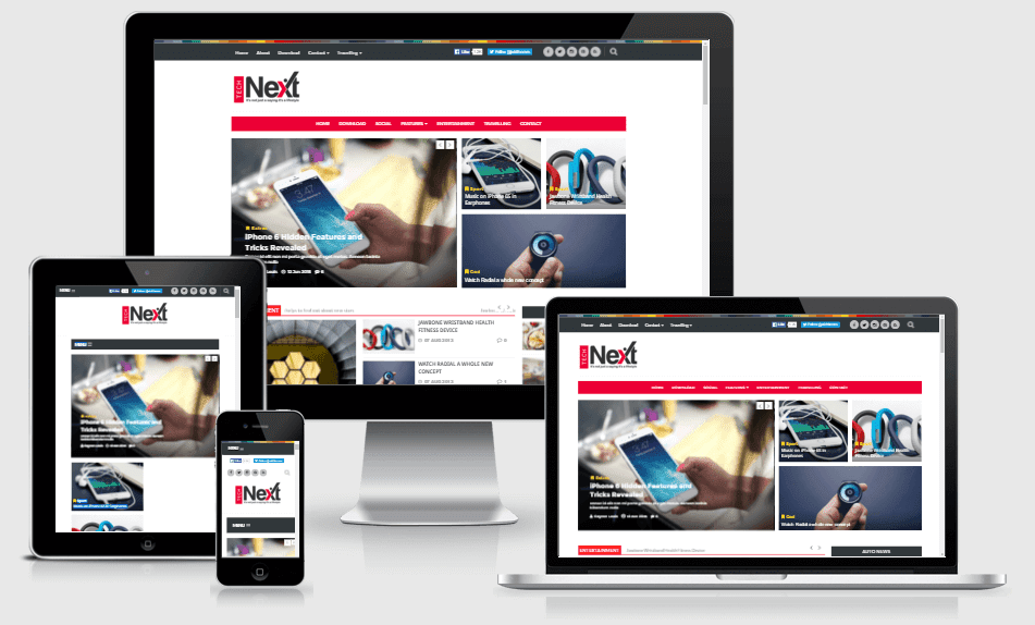 Technext - Responsive Magazine Blogger Template
