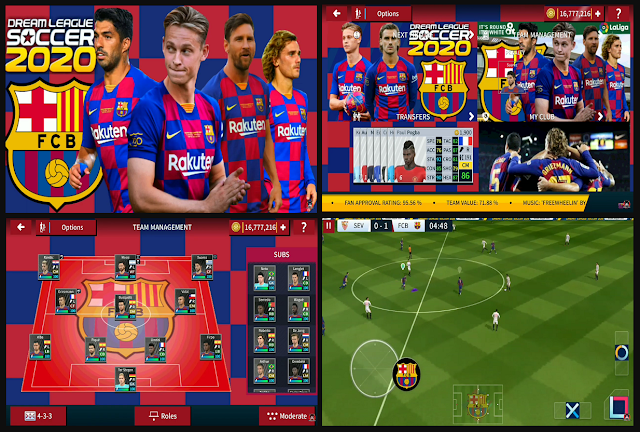 Download Dream League Soccer 2020 Mod Barcelona FC APK DATA OBB for Android