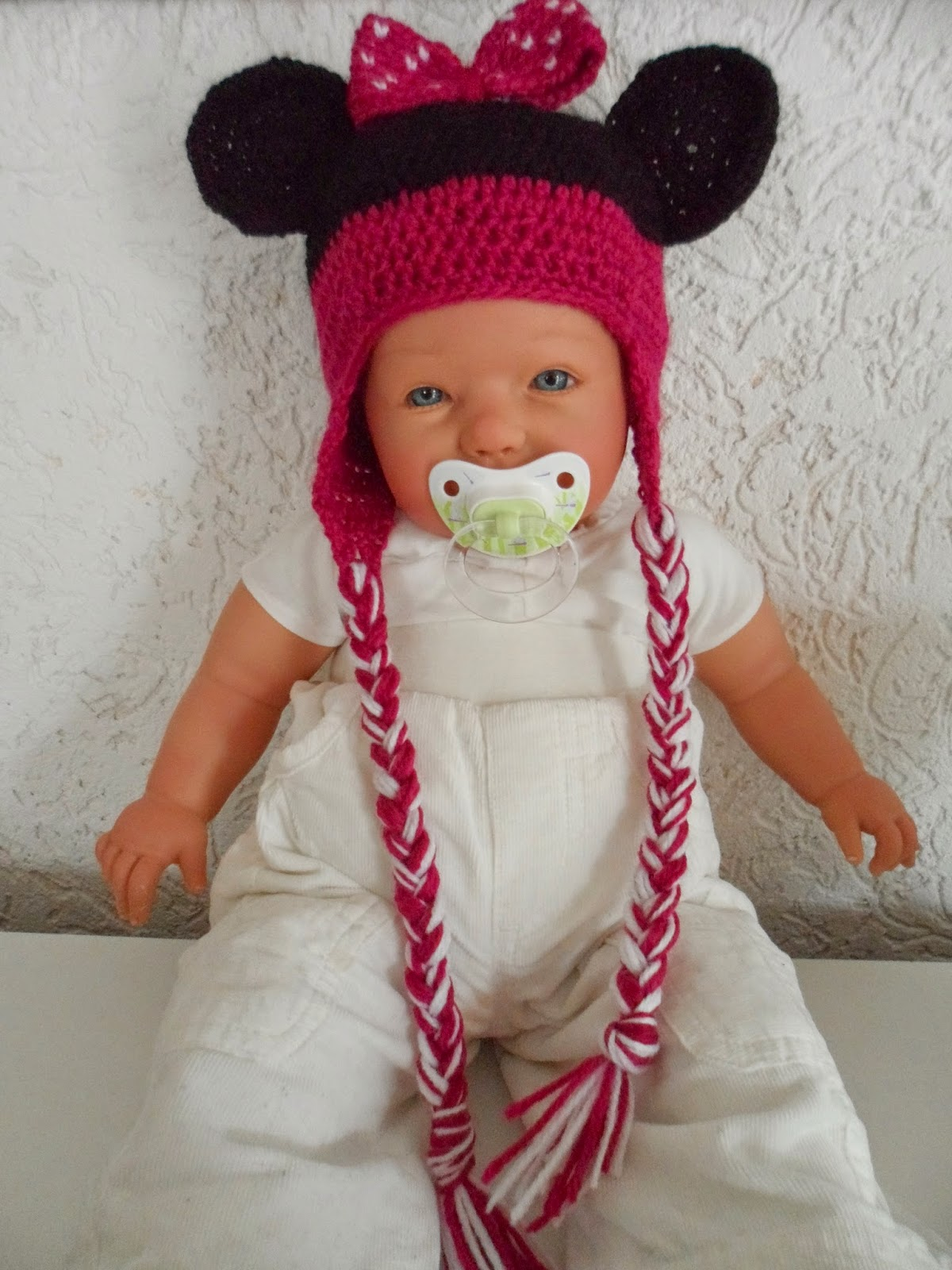 Gehäkelte Minnie Mouse Mütze Marys Kreativ Blog