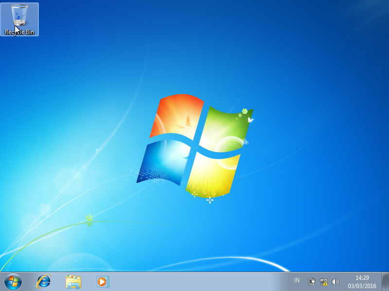 Tampilan Utama Windows 7