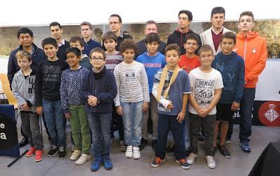Ajedrecistas participantes en el I Memorial Arturo Pomar Salamanca, Barcelona 2016