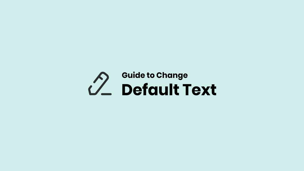 Change Default Text in Fletro Pro