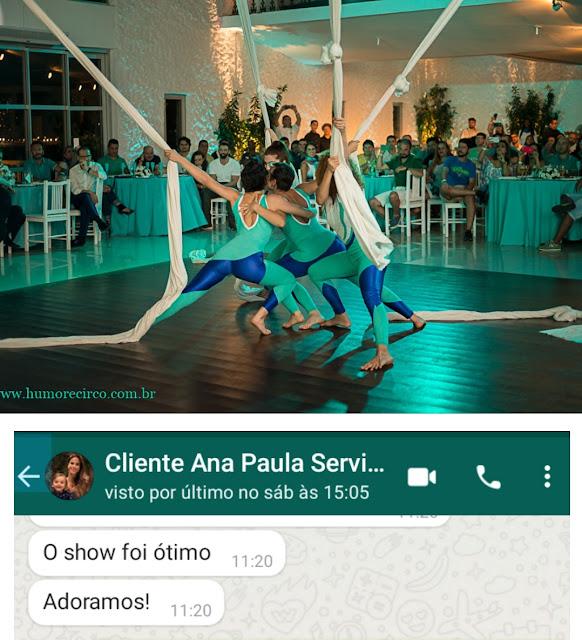 Depoimento cliente Ana Paula do show para lançamento de produto durante evento da empresa Servier no Costa Brava Clube RJ.