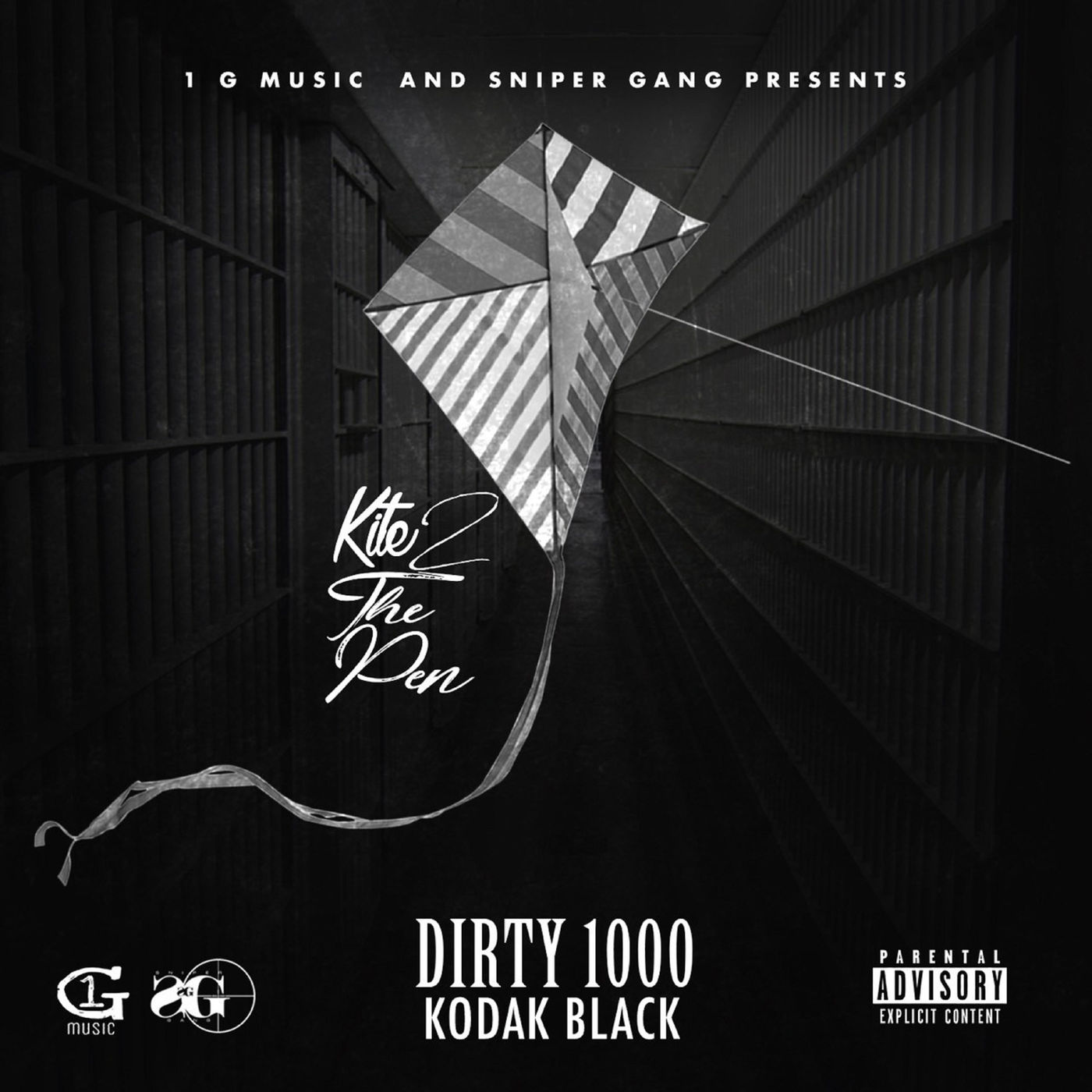 Dirty 1000 - Kite 2 the Pen (feat. Kodak Black) - Single Cover