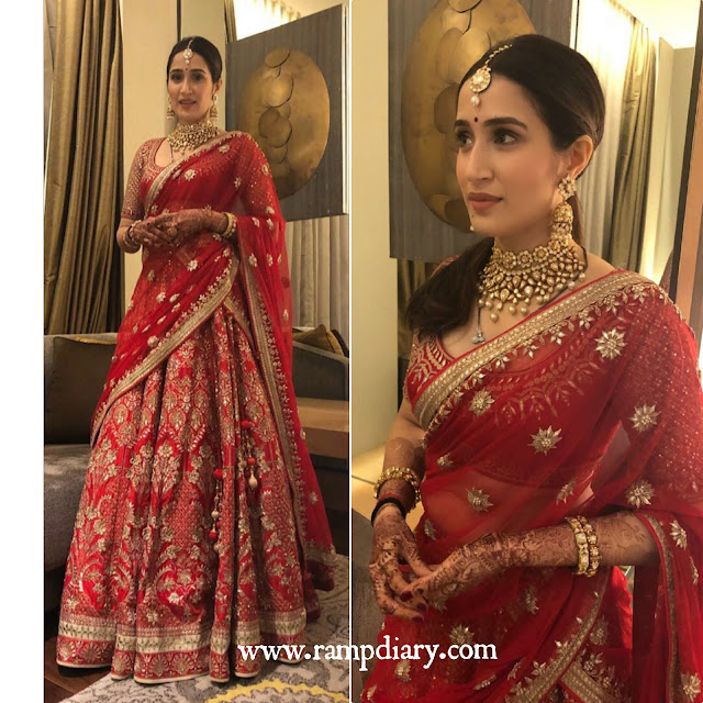 Sagarika Ghatge in Anita Dongre for Her Wedding