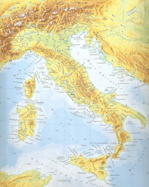 Cartina Fisica Italia, tutti i campi di volo per aeromodellismo
