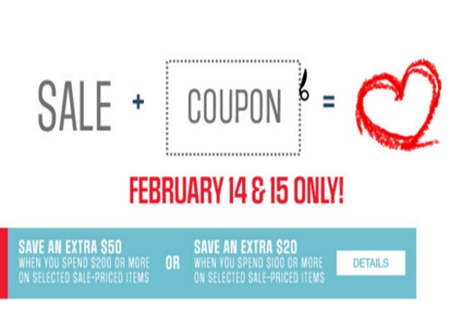 Sears Valentine's Day Up To $50 off Promo Codes