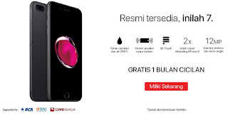 Promo iPhone 7 dan iPhone 7 Plus di Indonesia