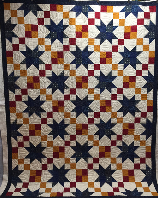 Road to Oklahoma Quilt  made by Katy Quilts , The Pattern Designed by Krystal Jakelwicz for Lets Quilt Something