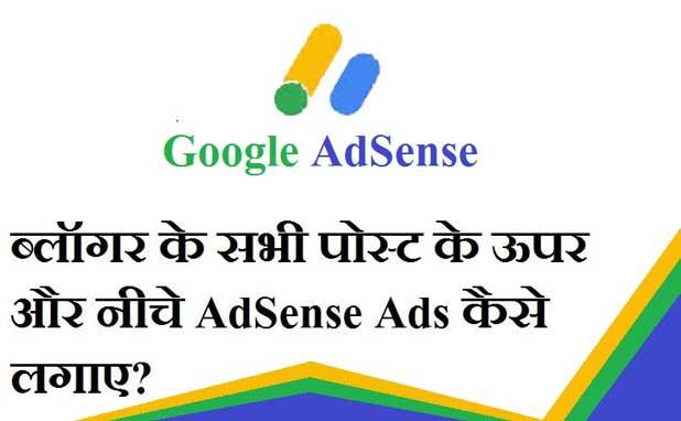 Sabhi Post Ke Uper Aur Neeche AdSense Ads Kaise Lagaye