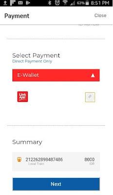 Pilihan pembayaran pembelian kereta api Prameks secara online melalui LinkAja