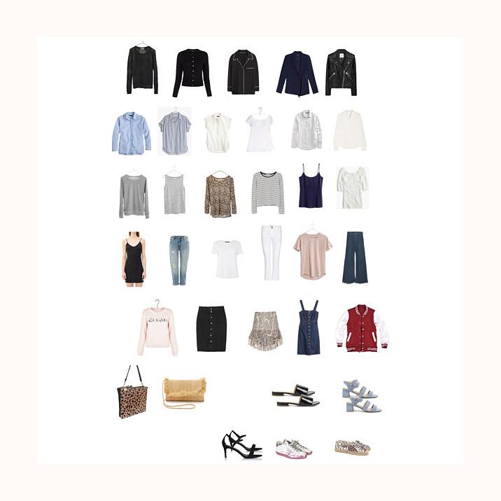 Capsule wardrobe spring, MAdewell, Isabel Marant, Ragdoll La, Everlane