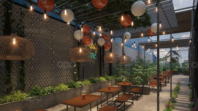 Không gian thưởng thức ẩm thực BBQ vừa sang trọng vừa lãng mạn