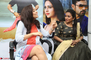 Actress Suma in Black Salwar Suit and Anusuya in orange Dress at winner movie press meet part 2 February 2017 (7).JPG