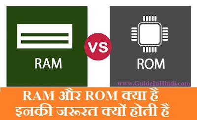 RAM (Random-access memory) और ROM (Read-only memory) क्या है इनकी जरूरत क्यों होती है [Guide In Hindi]