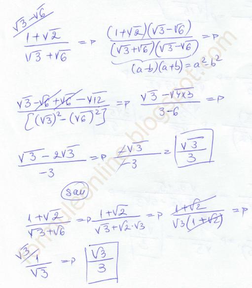 (1+√2)/(√3+√6) solved