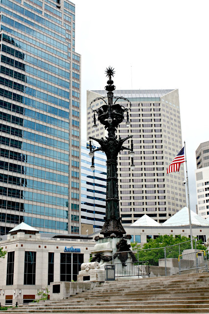 Candelabra at Soldiers and Sailors Monument Indianapolis