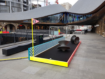 CLUB GOLF pop-up minigolf in King's Cross, London