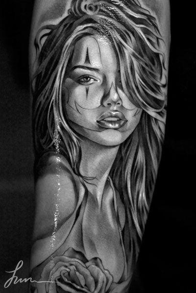 Tattoo Realismo Cara Mujer