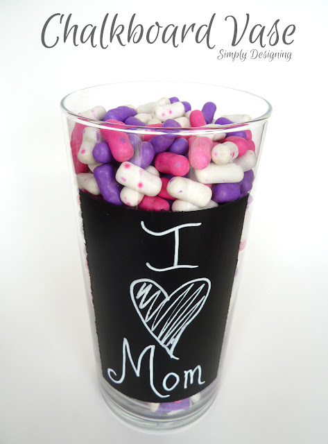 Mother's Day, Chalkboard Vase, #mothersday #mothersdayhoa #chalkboard