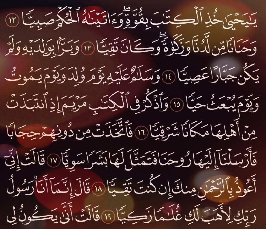 شرح وتفسير سورة مريم surah Maryam