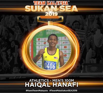 Biodata Haiqal Hanafi Raja Pecut Sukan SEA 2019 Filipina