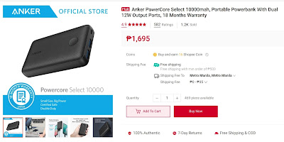 Anker PowerCore Select 10000mah