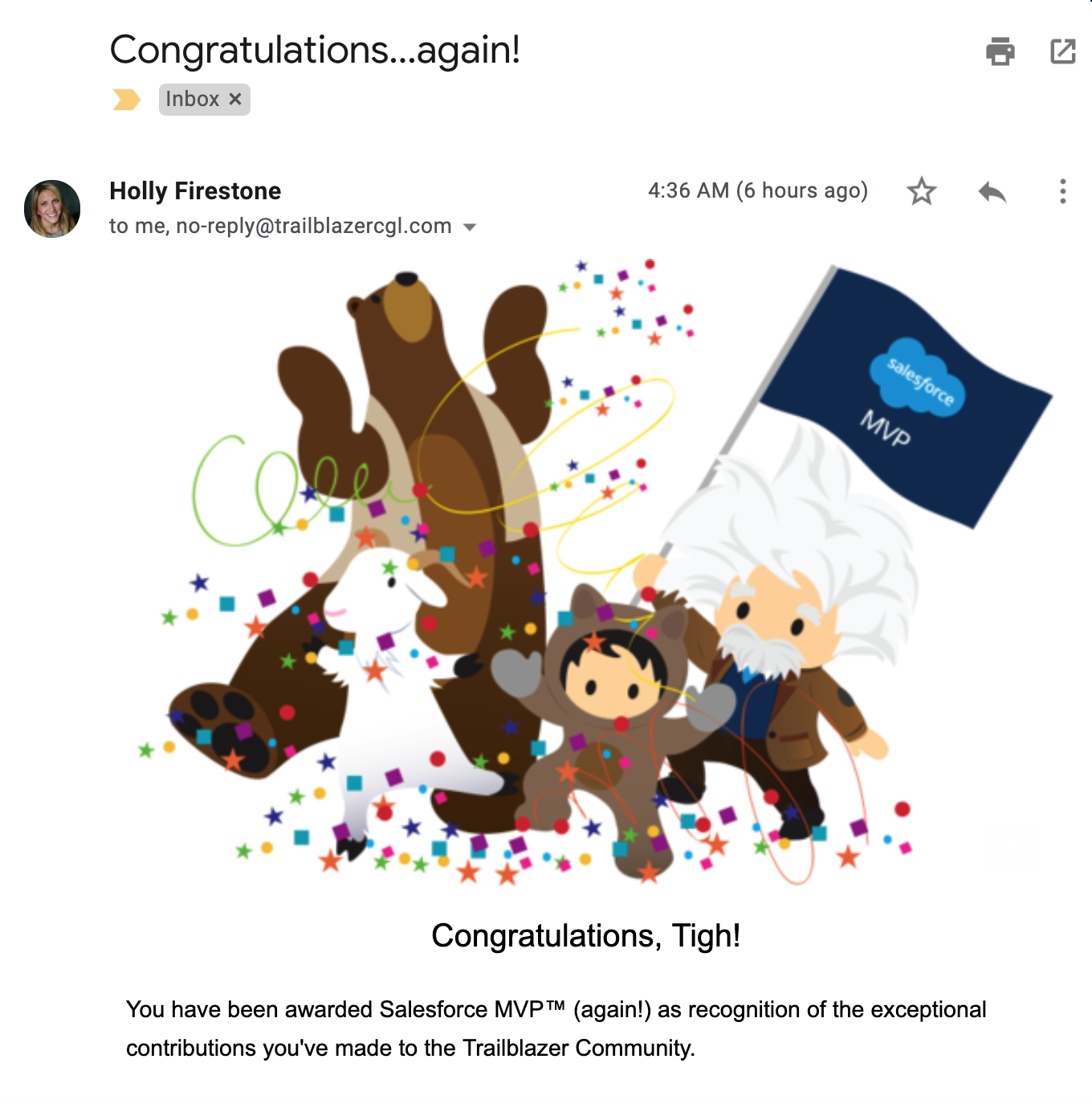 Tigh Loughhead is a 2019 2X Salesforce MVP
