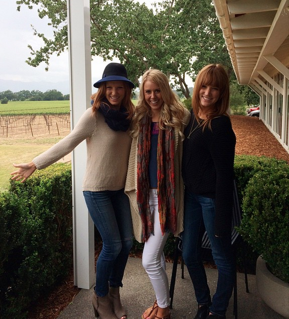 Twins and the bride-to-be at Mumm in Napa