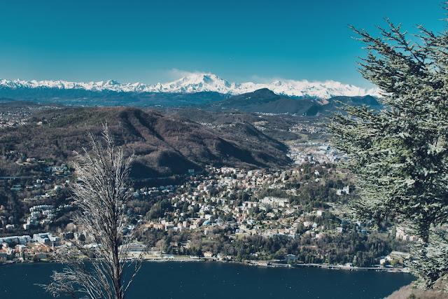 Balkon Alp - widok na Como z Brunate