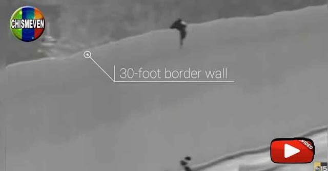 Familia venezolana detenida por cruzar muro fronterizo con una cuerda en EEUU