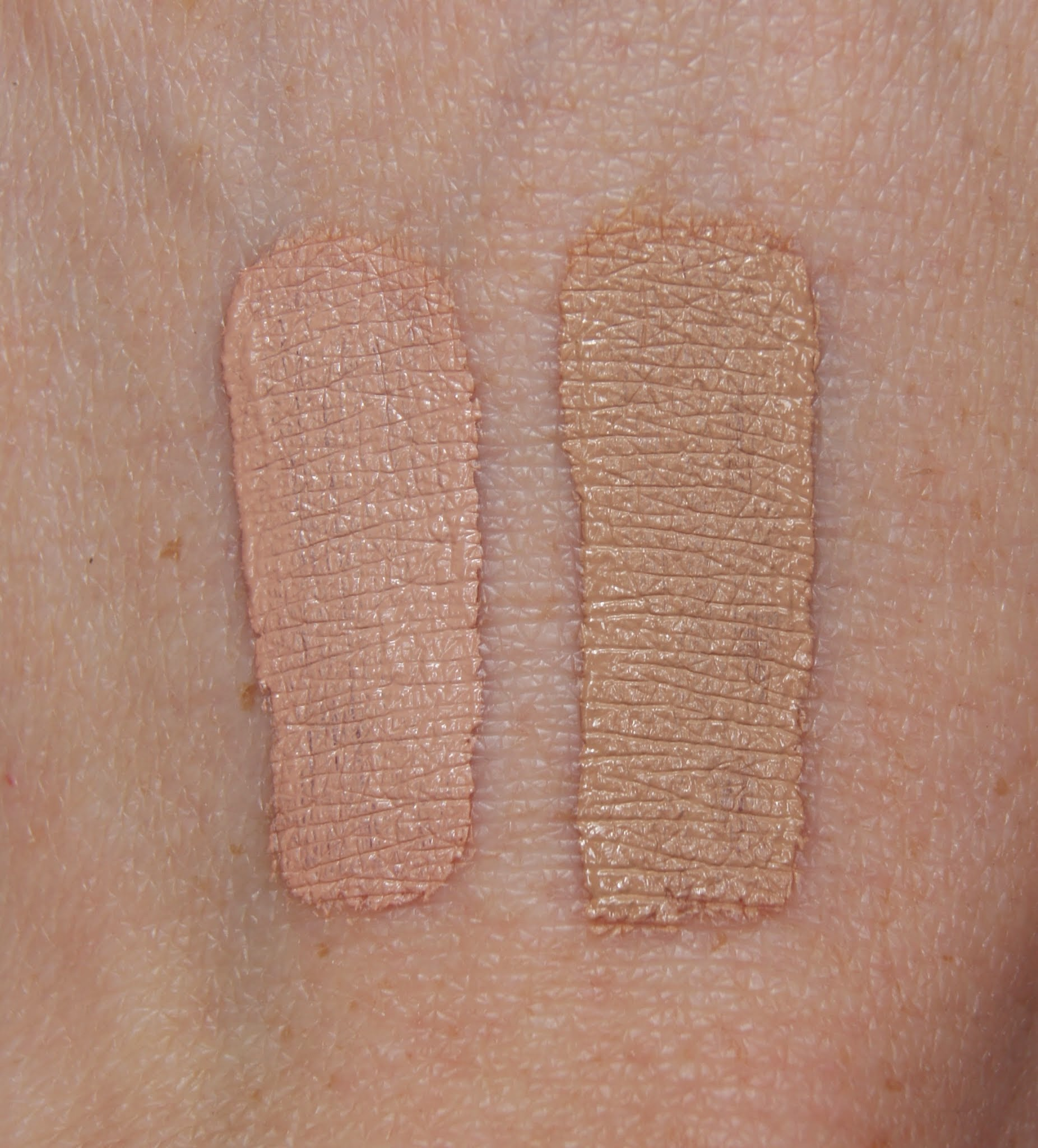 Collection Lasting Perfection Concealer 02 Light & 03 Medium Swatches