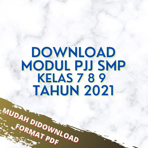 gambar modul pjj smp tahun 2021
