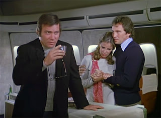 William Shatner, Roy Thinnes and Jane Merrow in The Horror at 37,000 Feet (1973)