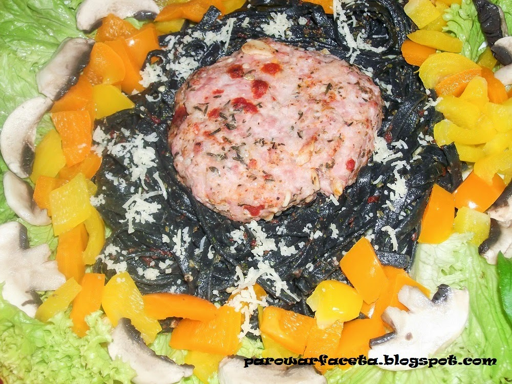 danie z parowaru makaron tagliolini