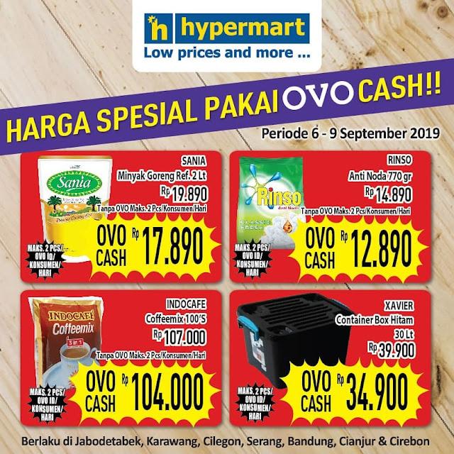 #Hypermart - #Promo Harga Special Bayar Pakai OVO Cash (s.d 09 Sept 2019)