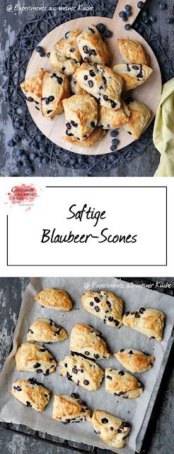 Saftige Blaubeer-Scones | Rezept | Backen | Essen | Gebäck | Weight Watchers